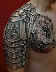 Gladiator Armor Tattoo - http://giantfreakintattoo.com/gladiator-armor-tattoo/