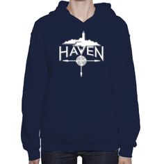 Haven Syfy Inspired Hoodies: Haven Logo White Silhouette Hoodie