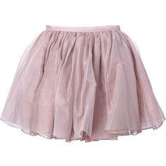 Olympia Le-Tan Tutu Skirt (16.630 CZK) ❤ liked on Polyvore featuring skirts, bottoms, jupe, purple tutu, purple tutu skirt, tutu skirts, purple skirt and silk skirt