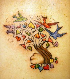 tree of life tattoo children names - Saferbrowser Yahoo Image Search Results Family Tattoos, Tattoos For Kids, Sister Tattoos, Great Tattoos, Beautiful Tattoos, New Tattoos, Tatoos, Bird Tattoos, Nature Tattoos