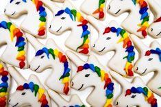 Unicorn Rainbow Birthday Party - Kara's Party Ideas - The Place for All Things Party Rainbow Unicorn Party, Rainbow Birthday Party, Unicorn Birthday Parties, 5th Birthday, Birthday Ideas, Birthday Cakes, Galletas Cookies, Sugar Cookies, Yummy Cookies