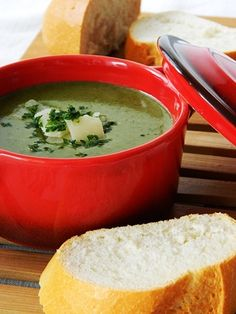 - - Spinach Soup - -  Substitute the chicken stock!