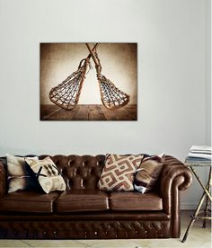 Vintage Lacrosse Sticks Upside Down on Wood Photo decor print 8x10 by shawnstpeter on Etsy, $20.00