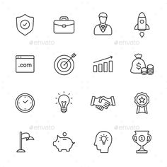 Business Line Icons. Download here: http://graphicriver.net/item/business-line-icons/14913973?ref=ksioks
