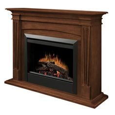 Dimplex�52-in W Burnished Walnut Wood Electric Fireplace with Thermostat and Remote Control