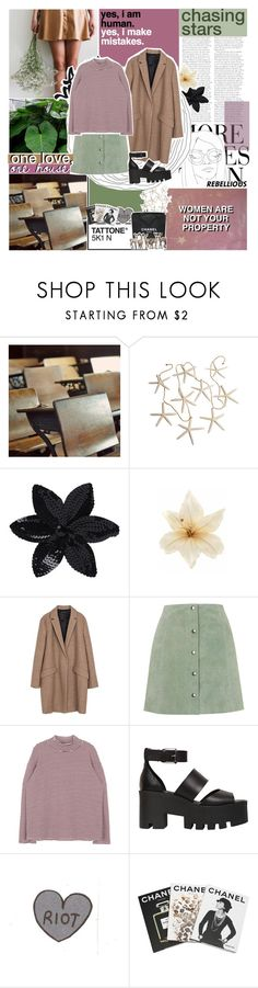 """""""NO SHIRT, NO BLOUSE + USERNAME CHANGE??"""" by siamesecat-1 ❤ liked on Polyvore featuring Wassup, GET LOST, ASOS, Clips, Zara, Topshop, Windsor Smith, Assouline Publishing, Chanel and WALL"""