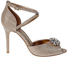 Belle By Badgley Mischka Okra Embellished Peep-Toe Pumps