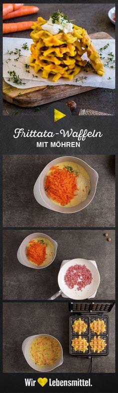 Knusperfans backen Ihre Frittata einfach im Waffeleisen aus! #frittata #waffeln #tagderwaffel #herzhaft #edeka