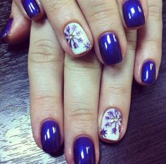 Deep blue #nailpolish paired with pure white polish and stenciled #snowflakes