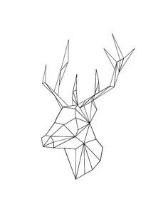 geometric deer head tattoo - Google Search