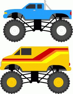 I think I'm in love with this shape from the Silhouette Online Store! Monster Track, Monster Jam, Heavy Equipment Rental, Silhouette Online Store, Transportation Theme, Monster Truck Birthday, Boy Cards, Silhouette Design, Cute Kids