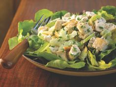 Toasted Almond Chicken Salad http://www.prevention.com/food/cook/20-low-calorie-salads-that-wont-leave-you-hungry/slide/9