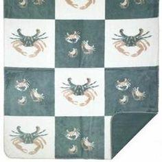 Denali Sand Crabs Blocks Microplush ® Blanket