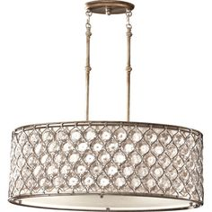 Murray Feiss Lucia 3 Light Chandelier in Burnished Silver - Silver Chandelier, 3 Light Chandelier, 3 Light Pendant, Drum Pendant, Pendant Chandelier, Oval Pendant, Pendant Lighting, Dining Chandelier, Chandelier Ideas