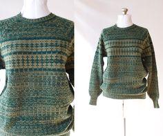 Vintage JAEGER Sweater  UniSex by PomegranateVintage on Etsy, $39.99