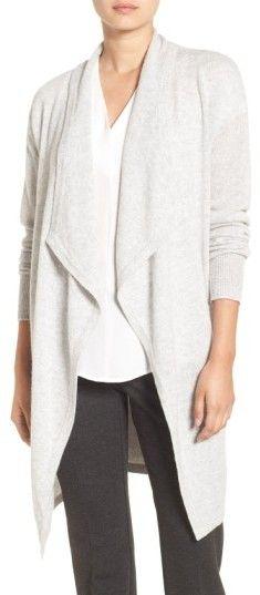 Women's Halogen Cashmere Long Drape Front Cardigan
