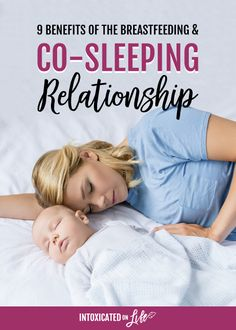 Breastfeeding and co-sleeping at the same time has great benefits mom and baby: more restful sleep, better milk supply, emotional connection, and others. Peaceful Parenting, Gentle Parenting, Parenting Advice, Kids And Parenting, Breastfeeding Nutrition, Breastfeeding Support, Breastfeeding Accessories, Nursing Tips, Attachment Parenting
