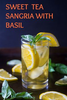 We all love sangria, but what about when it's mixed with sweet tea, fresh basil and lots of fresh citrus fruit? Well, my friends, you have one tasty #cocktail that can be enjoyed all #summer long. #cocktails #cocktailrecipes #drinkrecipes