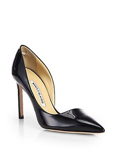 Manolo+Blahnik Stresty+Patent+Leather+d'Orsay+Pumps