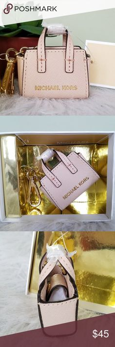 Michael Kors Selma Purse Feb Fob Charm Authentic Michael Michael Kors. Mini Selma. Purse Fey Fob / Key Charm /  Key Chain. Color: Ballet (Pink) Gold tone hardware. Hook clip. Logo lining. Snap top closure. Brand new with tags and box but the box doesn't have a lid. Michael Kors Accessories Key & Card Holders