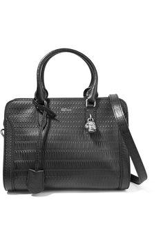 ALEXANDER MCQUEEN Textured-Leather Shoulder Bag. #alexandermcqueen #bags #shoulder bags #hand bags #canvas #leather #