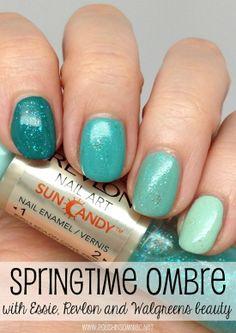 Springtime Ombre with Essie and Revlon! #WalgreensBeauty #shop #cbias