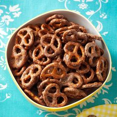 Sweet Chipotle Pretzels Recipe -Pretzels are a great snack food. I love this recipe because it is sweet as well as spicy, but not too spicy. It's a great combination for munching. —Geraldine Saucier, Albuquerque, New Mexico