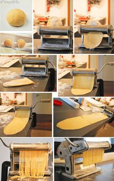 Pasta fresca - L'Exquisit. A beautiful image of pasta-making!