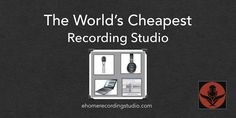 Want to build a recording studio but don& have much money? In this post I reveal the cheapest possible recording setup to get you started today. Recording Studio Home, Home Studio, Podcast Setup, Podcast Ideas, Circle Of Fifths Guitar, Studio Setup, Studio Ideas, Music Symbols, Recording Equipment