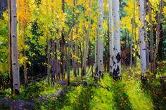 Fall Aspen Forest Gary Kim