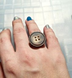Hey, I found this really awesome Etsy listing at https://www.etsy.com/listing/184566669/upcycled-large-button-ring