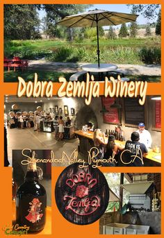 The beautiful grounds with a lake; delicious, robust wines and super friendly staff make Dobra Zemlja Winery a great place to visit in Shenandoah Valley, Plymouth, CA. Come to taste the wines or just to have a picnic.