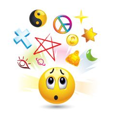 Illustration of Smiley ball with symbols of religion vector art, clipart and stock vectors. Blue Emoji, World Emoji Day, Emoji Faces, Smiley Faces, Romantic Pictures, Emoji Wallpaper, Cute Stickers, Vector Art, Religion