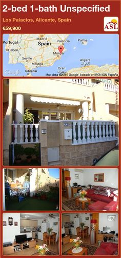 Unspecified for Sale in Los Palacios, Alicante, Spain with 2 bedrooms, 1 bathroom - A Spanish Life Valencia, Sun Awnings, Portugal, Alicante Spain, Double Bedroom, Patio Doors, Kitchen Styling, Ground Floor, Palaces