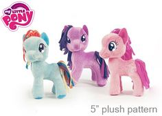 "DIY // Free  Pattern - 5 inch ""My Little Pony"""