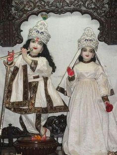 Radha Krishna in a night outfit.