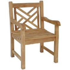 teka lattice armchair teak wooden garden outdoor furniture