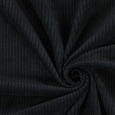 Velluto a coste larghe 1 - nero - Tessuti 1930-1939 - Negro - Velluto a coste largo - tessuti.com