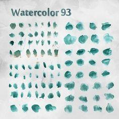 93 Free Watercolor Brushes - Photoshop brushes