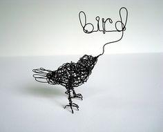 Bird is the word. Wire Bird Sculpture by Nakisha (me) :)