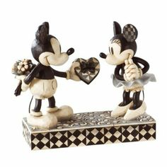 Disney Traditions by Jim Shore 4009260 Black and White Mickey and Minnie Valentine Figurine 6-Inch  $42.99