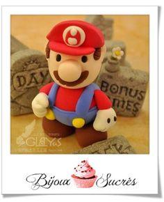 Tuto fimo : Mario | Bijoux sucrés, Bijoux fantaisie, Bijoux gourmands, Pâte Fimo, Nail Art et Miniatures gourmandes