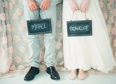 Plan to take a photograph to use for your thank you cards - this is a cute styled shot to snap on your wedding day.
