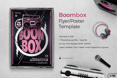 Boombox Flyer Template by Thats Design Store on @creativemarket