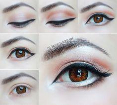 Eye Enlarging Makeup Tutorial step by step BJD Doll Eyes Lips anime eyes makeup blogger