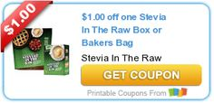 Tri Cities On A Dime: SAVE $1.00 ON STEVIA IN THE RAW BOX OR BAKERS BAG