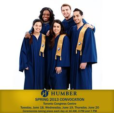 Congrats to our 2013 graduates! Spring 2013 Convocation taking place at the Toronto Congress Centre June 18-20. #HawkYah #Humber #HumberCollege