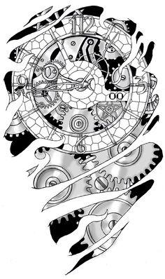 steampunk tattoo - Hľadať Googlom
