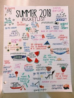 Simple Bullet Journal Ideas to Simplify your Daily Activity - Summer Bucket List Summer Bucket List For Teens, Summer Fun List, Teen Bucket List, Senior Bucket List, Teenage Bucket Lists, Summer Goals, Fun Bucket List Ideas, Bucket List For Couples, College Bucket List