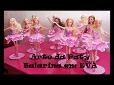 barbie bailarina em eva passo a passo - YouTube